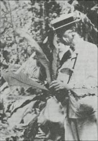 Ducke preparing specimens at Utinga, near Belém, 1943