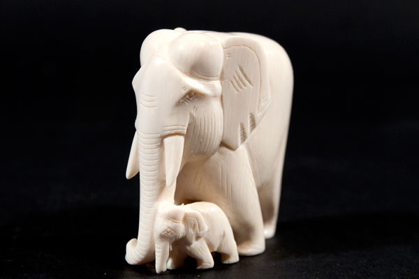 Ivory sculpture. Photo: Annica Roos