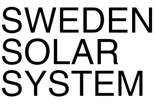 Text: Sweden solar system