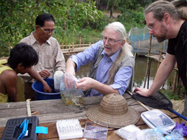 Sven Kullander and Michael Norén collecting fish in Myanmar. Photo: Michael Norén