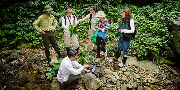 Today, expeditions are often collaborative efforts in which specialists and students learn from each other. Scientists from this museum also share their knowledge and bring back the results of new discoveries. Seen here, part of an expedition in Vietnam. (Photo: Johannes Lundberg)