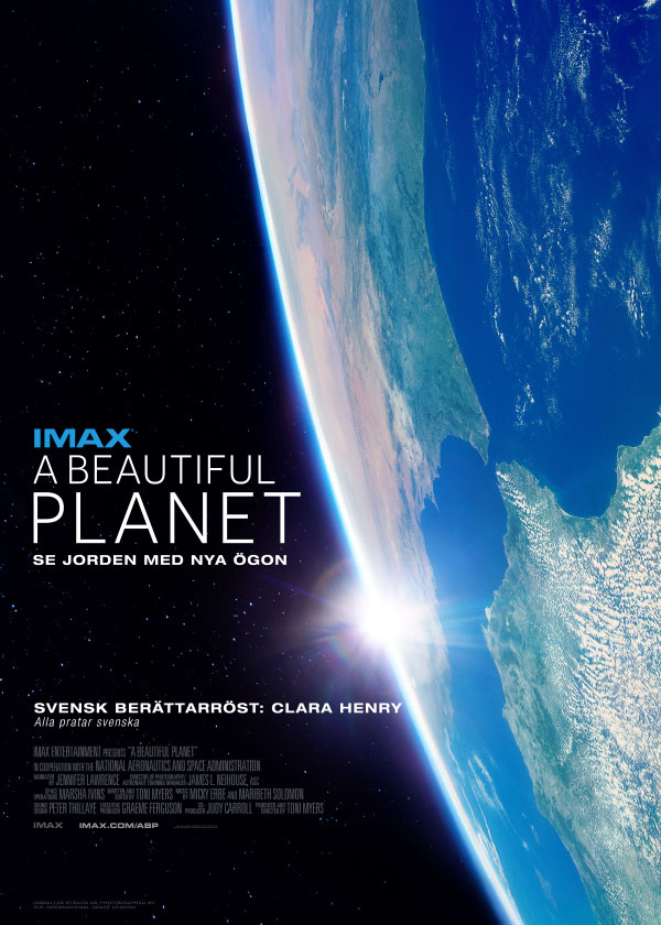 Filmaffisch för A Beautiful Planet. Bild: IMAX/Cosmonova.