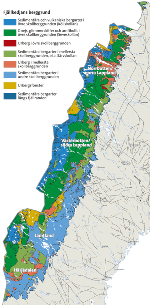 Karta Over Varldens Bergskedjor.Fjallkedjans Bildning Naturhistoriska Riksmuseet