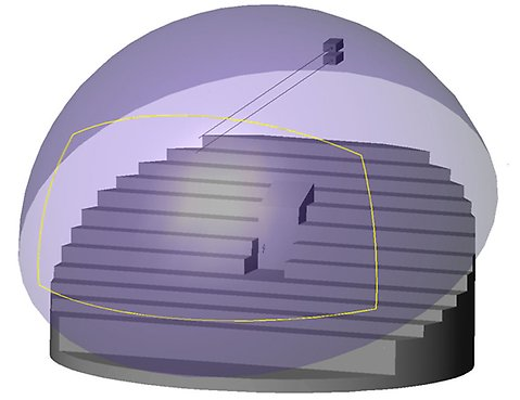 Illustration of Digital 3D Projection.